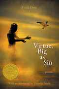 Virtue, Big as Sin - poems by Frank Osen - front cover (click to enlarge)