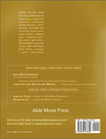 Able Muse - a review of poetry, prose and art - Winter 2010 (No. 10 - inaugural print edition) - back cover (click to enlarge)