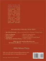 Able Muse - a review of poetry, prose and art - Winter 2015 (No. 20 - print edition) - back cover (click to enlarge)