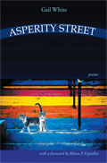Asperity Street - poems by Gail White - front cover (click to enlarge)